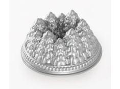 Nordic Ware Forma na bábovku Zimní les,velká stříbrná Nordic Ware