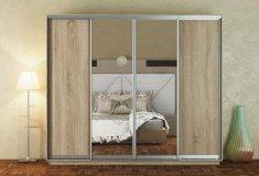 Nejlevnější nábytek Skříň s posuvnými dveřmi TORB 280 cm, dub sonoma