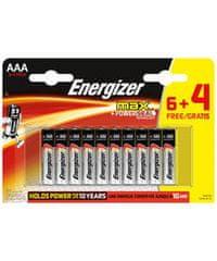 Energizer Max alkalna baterija, AAA (LR03), 6 + 4 komada