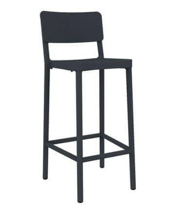 shumee Barski stol Lisboa 75cm temno siv