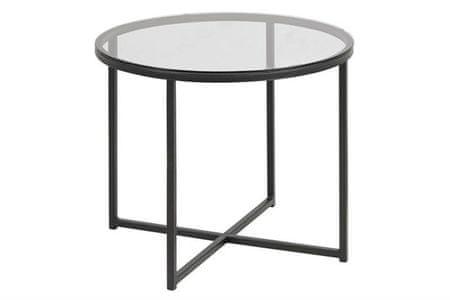 shumee Kerek kereszt asztal, üveg / fekete