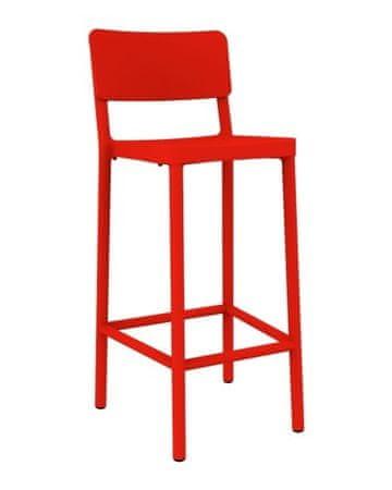 shumee Barski stol Lisboa 75cm rdeč