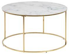 shumee Kulatý konferenční stolek Bolton mramor / zlato