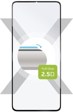 Fixed Full-Cover zaščitno kaljeno steklo za Honor 9A, čez cel zaslon, črno