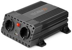 Technaxx przetwornik napięcia 600W, DC 12V na 2× USB a 2× 230V (TE19) 4857