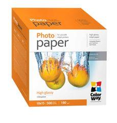 ColorWay Fotopapier CW Vysoko lesklý 180g/m²,500ks,10x15