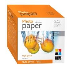 ColorWay Fotopapier CW Vysoko lesklý 200g/m²,500ks,10x15