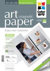 ColorWay Fotopapier CW ART Lesklý Magnetický 690g/m²,5ks,A4
