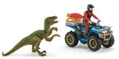 Schleich Ucieczka przed Velociraptorem na quadzie 41466