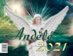 Jitka Saniová: Andělé 2021 - stolní kalendář