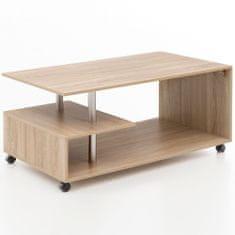 Bruxxi Konferenčný stolík Jada, 105 cm, dub