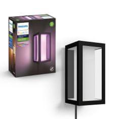 Philips HUE Impress zunanja svetilka z adapterjem, stenska, LED, RGBW, 16 W, 1200 lm, 2000–6500 K, IP44, črna