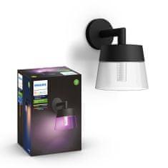 Philips HUE Attract zunanja svetilka, stenska, LED, RGBW, 8 W, 1200 lm, 2000–6500 K IP44, črna