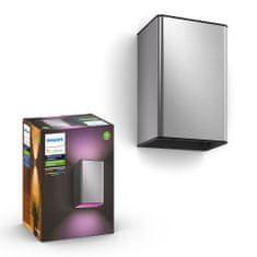 Philips HUE Resonate zunanja svetilka, stenska, LED, RGBW, 2x 8 W, 1200 lm 2000–6500 K IP44, nerjaveče jeklo