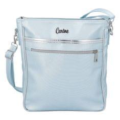Carine Moderní dámská koženková kabelka Carine C., modrá