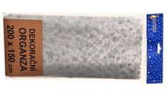 EverGreen Organza - małe gwiazdy 2x1,5 m B
