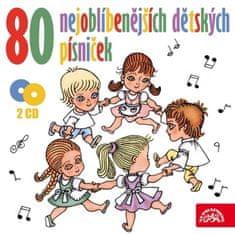 VA: 80 nejoblíbenějších dětských písniček (2x CD) - CD