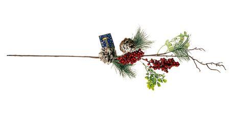 EverGreen Faág tobozokkal és bogyókkal, 68 cm magas