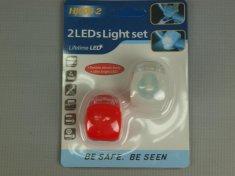 2ks LED světla na kolo v silikonovém obale HJ008-2