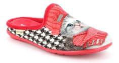Grünland FAYE CI2780 dámská domácí pantofle červená koťátko Grunland Velikost: 37