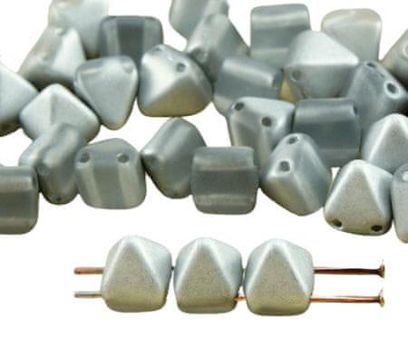 Kraftika 16db matt kristály ezüst fél kis piramis stud 2 két lyuk