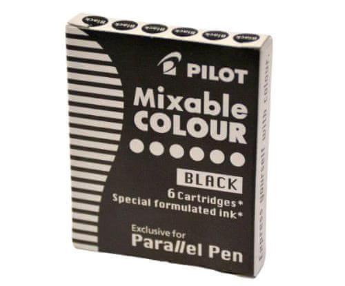Pilot Náplň do plnicího pera parallel pen (6ks) černá,