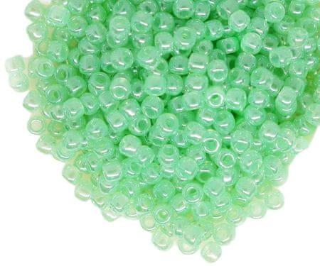 Kraftika 10g ceylon zeller zöld kerek üveg japán toho mag gyöngyök