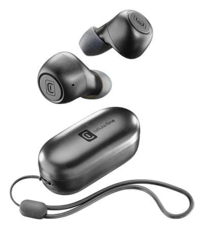 CellularLine TWS Pick brezžične slušalke, črne