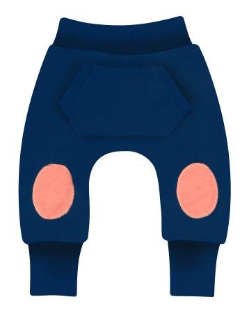 Nini ABN-2135 fantovske hlače iz organskega bombaža, temno modre, 86