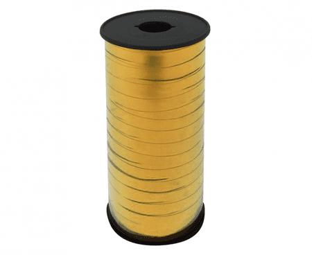 GoDan Złoty wstążka do balonów Metaliczny, 5 mm x 92 m