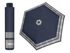 Doppler HAVANNA Timeless modrý se vzorem ultralehký skládací deštník Barva: Modrá