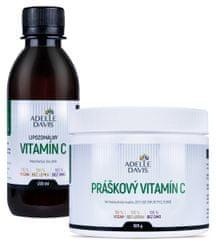 Adelle Davis Lipozomálny vitamín C, 200 ml + Práškový vitamín C, 500 g