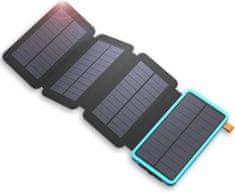 Allpowers XD-SC-010-BBLU Solárna nabíjačka 7,5W + 20000mAh PowerBank Black / Blue