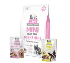 Brit Care Mini Grain Free Yorkshire 2 kg + 2x pouch 85g
