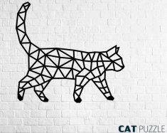 EWA ECO-WOOD-ART Nástěnné puzzle Kočka