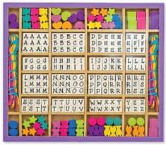 Melissa & Doug Dřevěné korálky s abecedou