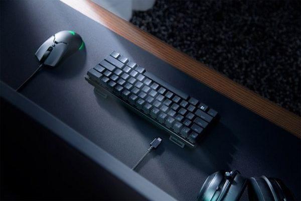 Herní klávesnice Razer Huntsman Mini, Razer Optical Red, US (RZ03-03390200-R3M1) podsvícení RGB razer optical red