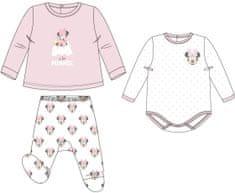 Disney komplet dziewczęcy Minnie Mouse biały/różowy uni