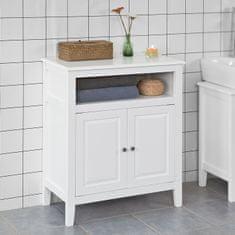 SoBuy FRG204-W koupelnová komoda koupelnová skříňka příborník předsíňka 69x80x33cm