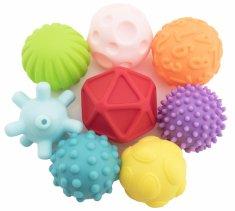 Teddies Sada míčků 9ks s texturou gumové 6-7cm