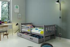 Furnitura Postelja CARINO 190x80 s predalom + GRATIS ležišče - GRAFIT
