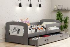 Furnitura POSTELJA FILIP 160x80 S PREDALOM IN LEŽIŠČEM - AVTO (VEČ BARV)