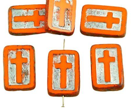 Kraftika 2db picasso barna átlátszatlan jácint narancs ezüst patina