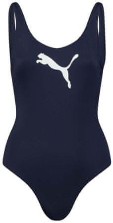 Puma női egyrészes fürdőruha Swim Swimsuit 907685, L, kék