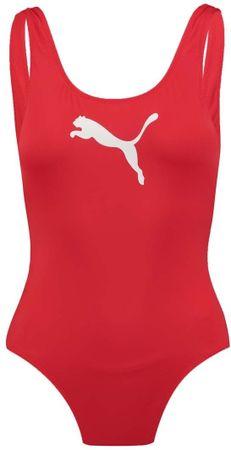 Puma női egyrészes fürdőruha Swim Swimsuit 907685, M, piros