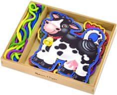 Melissa & Doug Befűzhető játék Állatkák a farmról