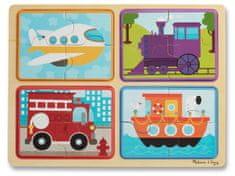 Melissa & Doug Drewniane puzzle, środki transportu