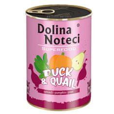 DOLINA NOTECI SUPERFOOD 400g kačica a prepelica pre psov 80% mäsa