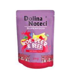 DOLINA NOTECI SUPERFOOD 300g srnčie a hovädzie mäso pre psov 80% mäsa