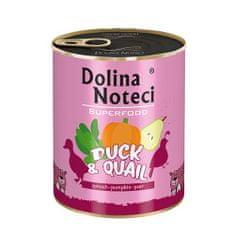 DOLINA NOTECI SUPERFOOD 800g kacsa és fürj kutyáknak 80% hús
